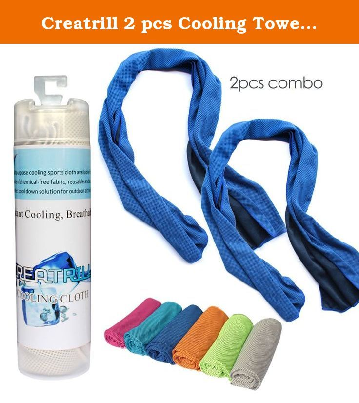 Creatrill 2 Pcs Cooling Towel Combo 40 Long Instant Cooling