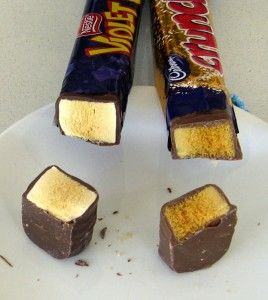 Nestle Violet Crumble vs. Cadbury Crunchie - NO competition. Violet Crumble wins, hands down, in my book! And I am absolutely HOARDING the bars that my wonderful friend @Crystal Chou Chou Lynn Trainer had her Australian friend bring over for me. :-) <3