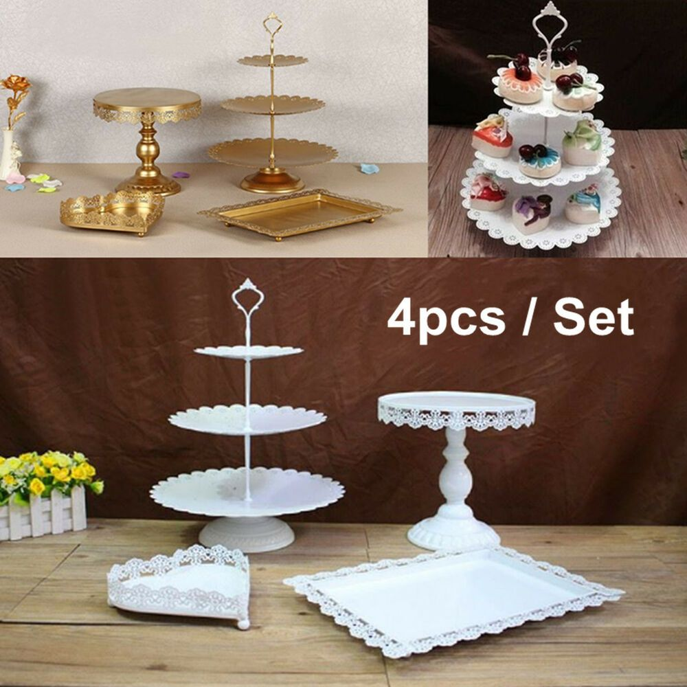 14Pcs Vintage Metal Cake Stand Display Set Birthday Wedding Party Tower Decor
