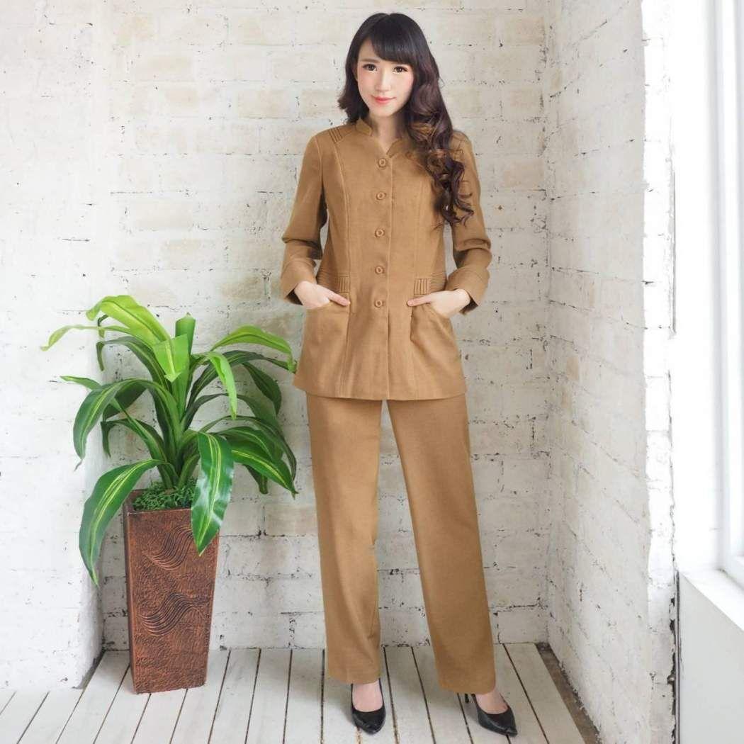 Model Baju Dinas Pdh Gamis – Ragam Muslim  Pakaian kerja, Model