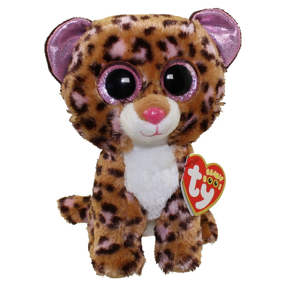 TY Beanie Boos - PATCHES the Brown   Pink Leopard (Glitter Eyes ... 16c7839e8b8c