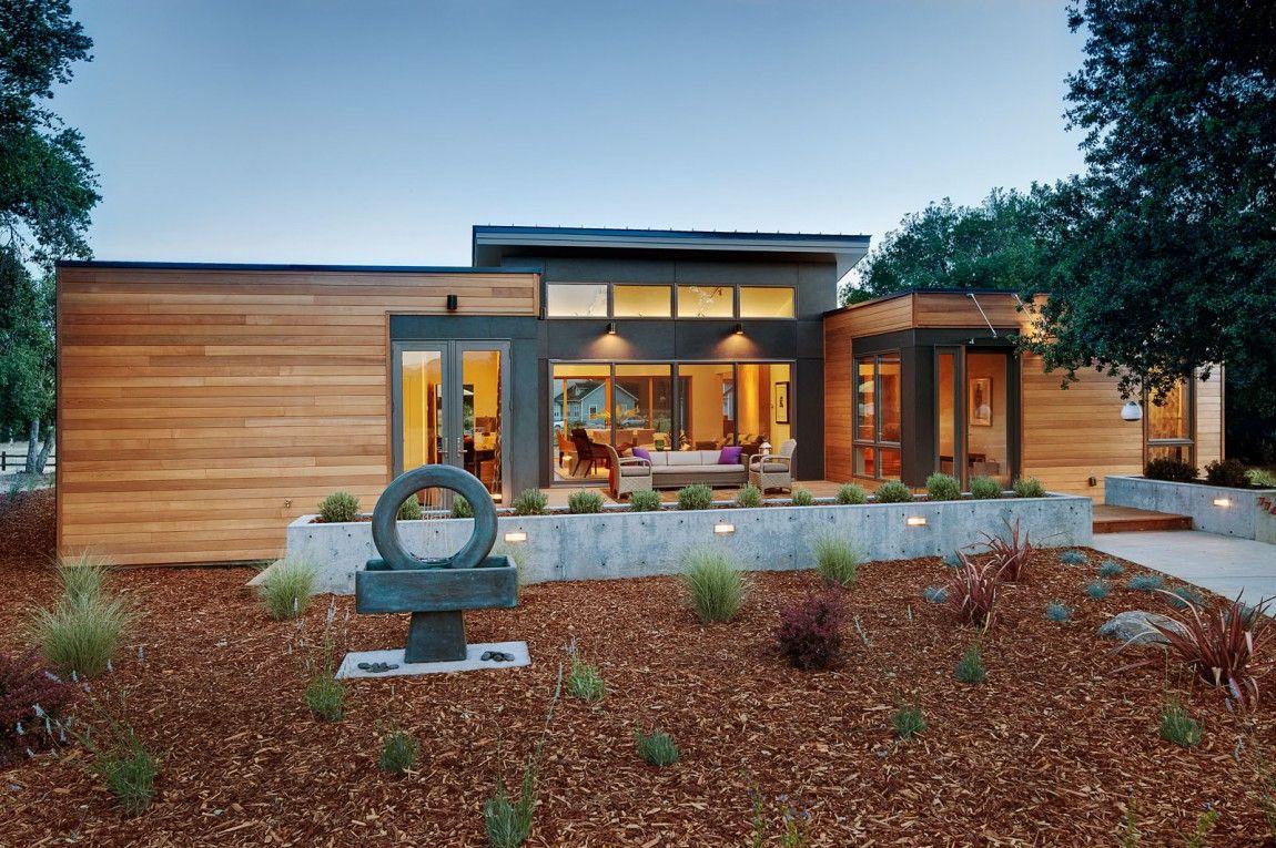 Massachusetts based prefab maker blu homes unfolded a breezehouse in healdsburg california