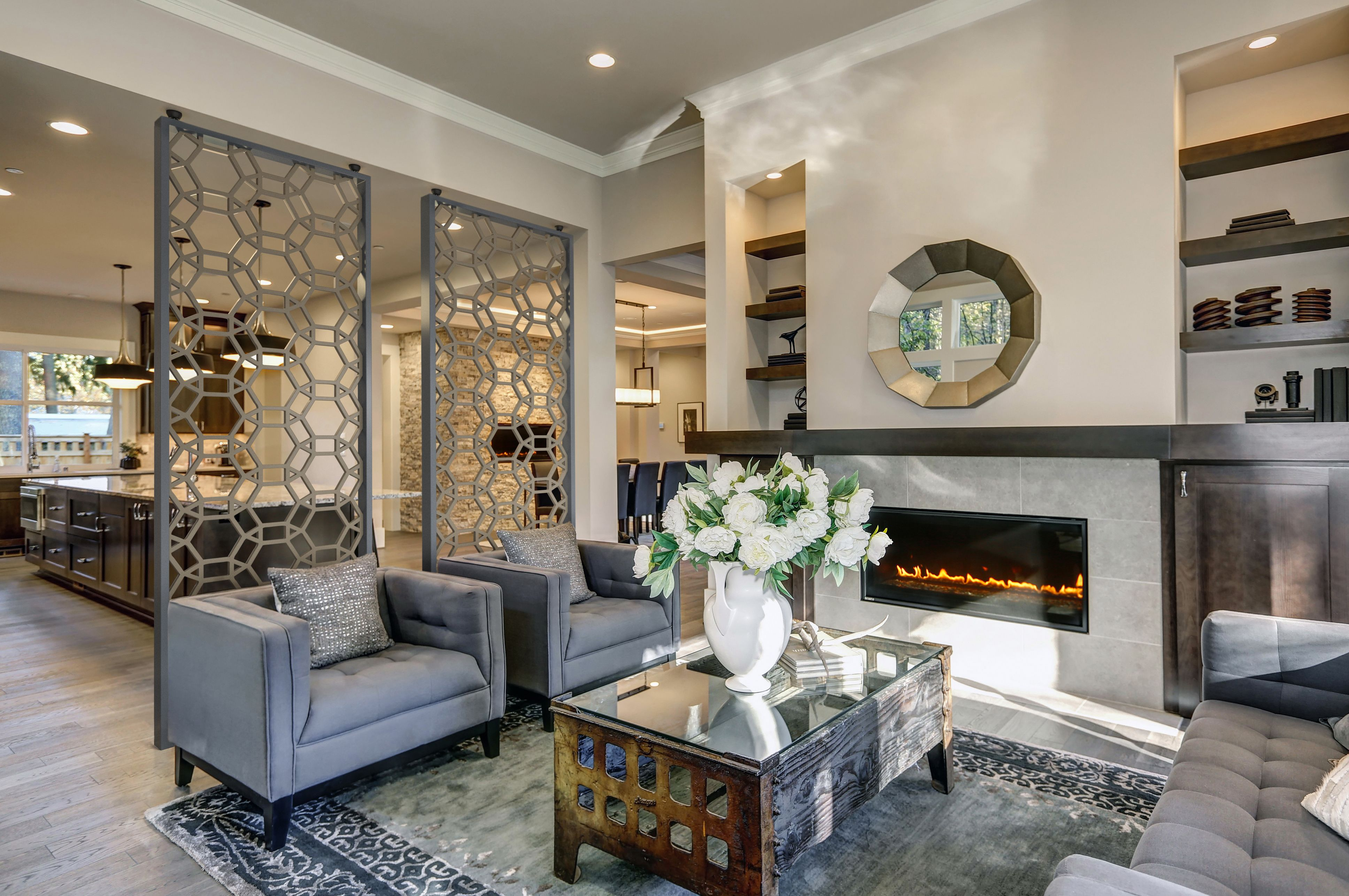 Tableaux Room Partitions Add A Modern Look To This Space Using