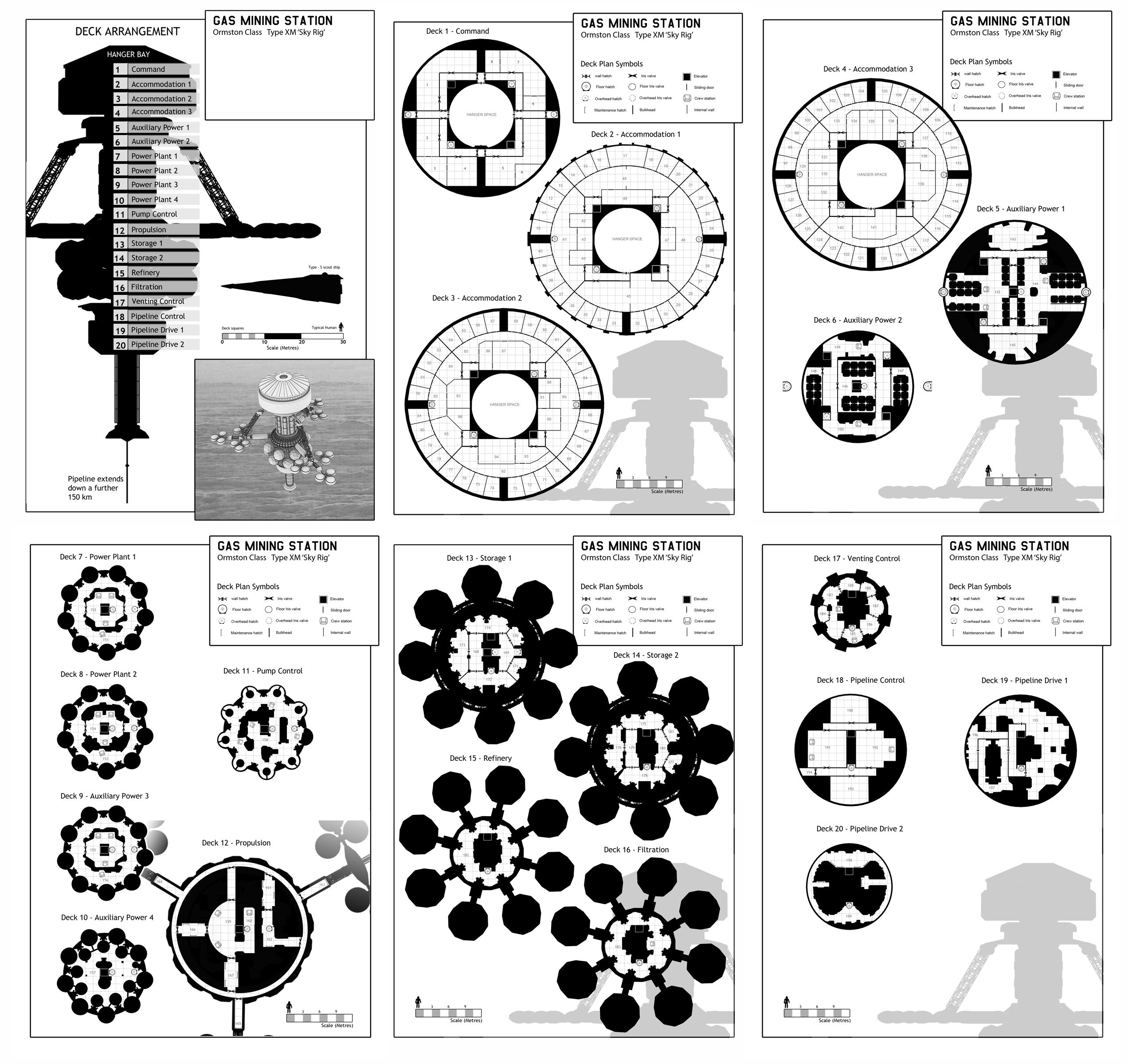 Space Station Deck Plans