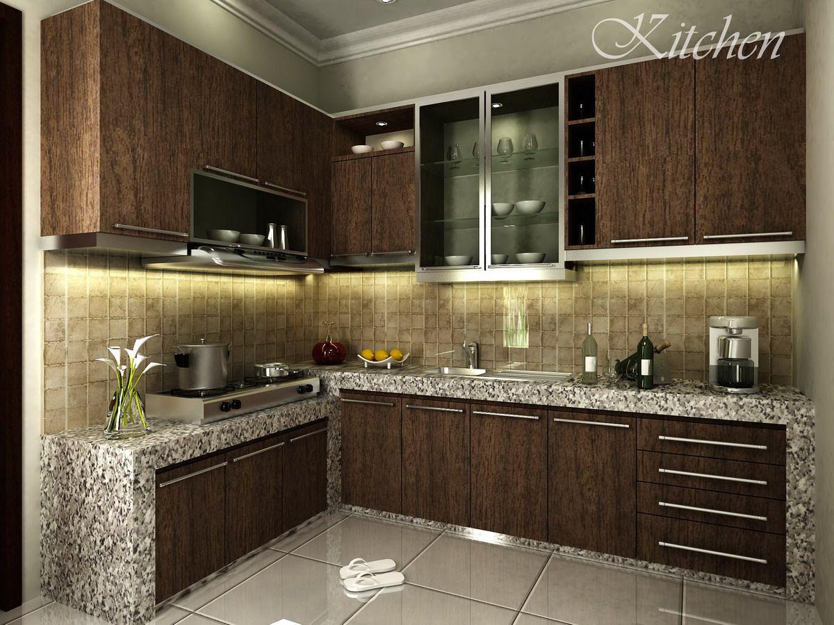 Contoh Design Kitchen Set Kami Interior Dapur Lantai Dapur