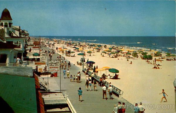 Scenes Of Maryland Boardwalk And Beach Scene From Roosevelt Hotel Ocean City