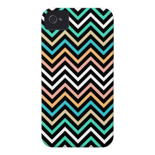 Colorful Modern Chevron Case-Mate iPhone 4 Case  #iphonecase #chevron #colorful #iphone