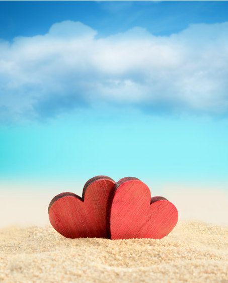 Kate photography Backdrops  Red Wooden Hearts by katehome2014