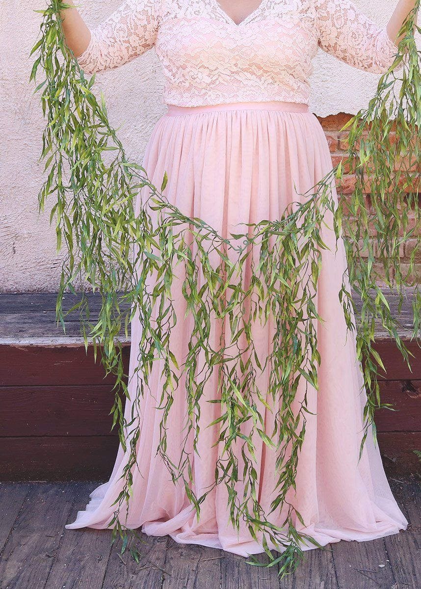 Green weeping willow garland outdoor wedding ideas afloral