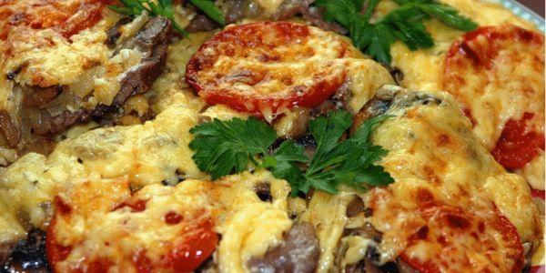мясо по французски с грибами в мультиварке