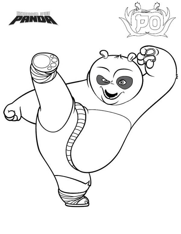 Dragon Warrior Kick In Kung Fu Panda Coloring Page Kids Play Color Panda Coloring Pages Kung Fu Panda Cartoon Coloring Pages