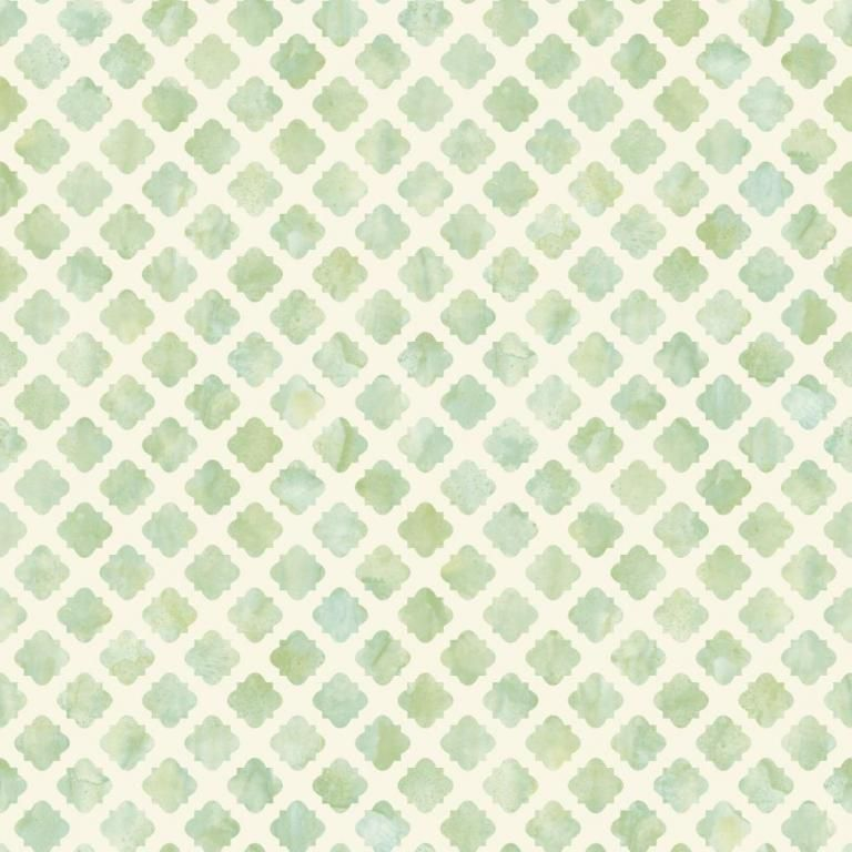 Watercolour Inspired Wallpaper In Green From The