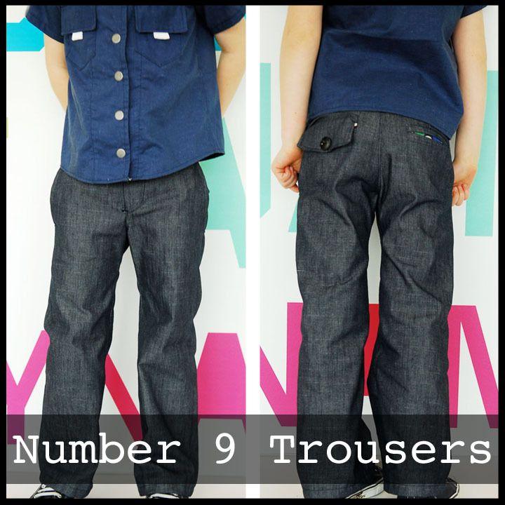 Number 9 Trousers # Größe 12 Mon. - 8 Jahre # von Shwin Designs bei ...