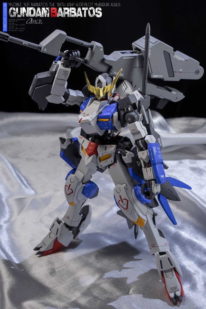 GUNDAM GUY: 1/100 Gundam Barbatos Form 6 - Customized Build | 鐵血 ...