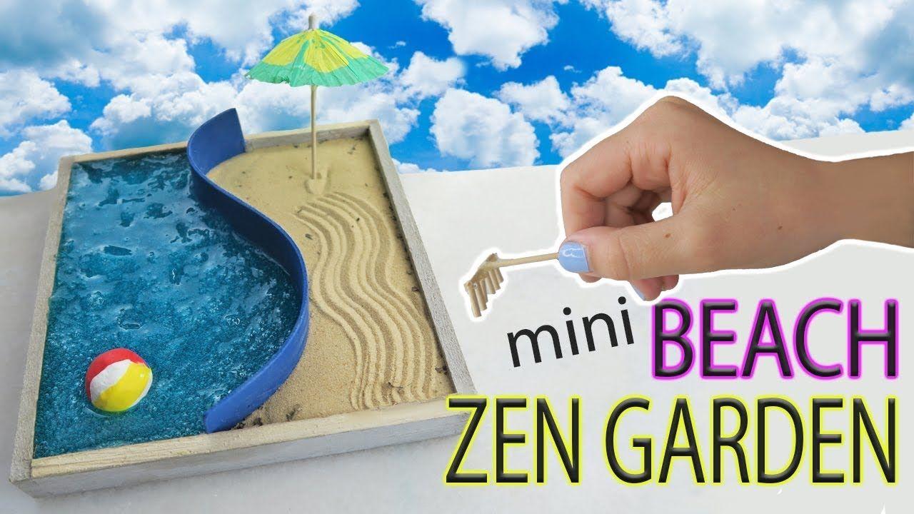 Tutorial Miniature Beach Zen Garden Fun Crafts For Kids Zen Garden Diy Zen Garden