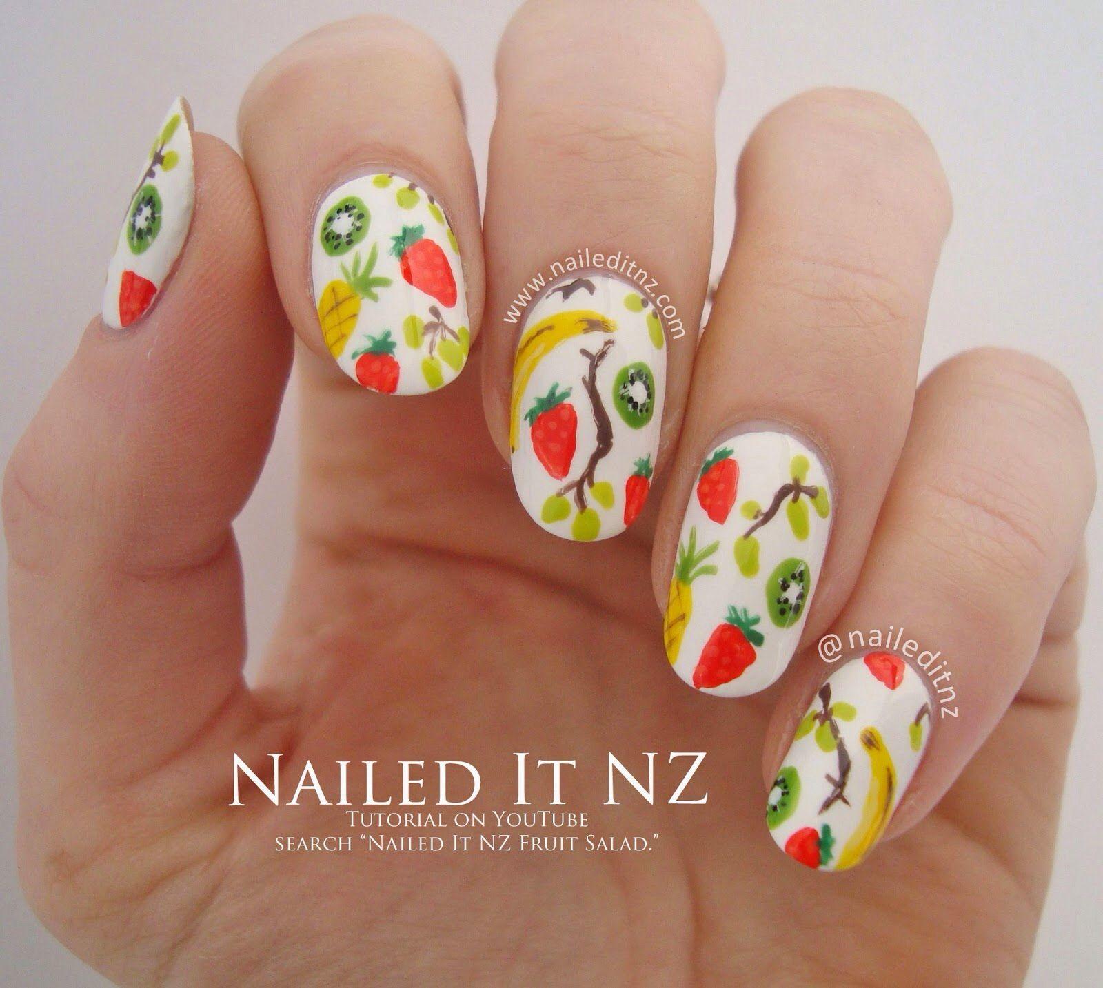 Nailed It NZ cute fruity nail designs   Fruity nail designs   Pinterest
