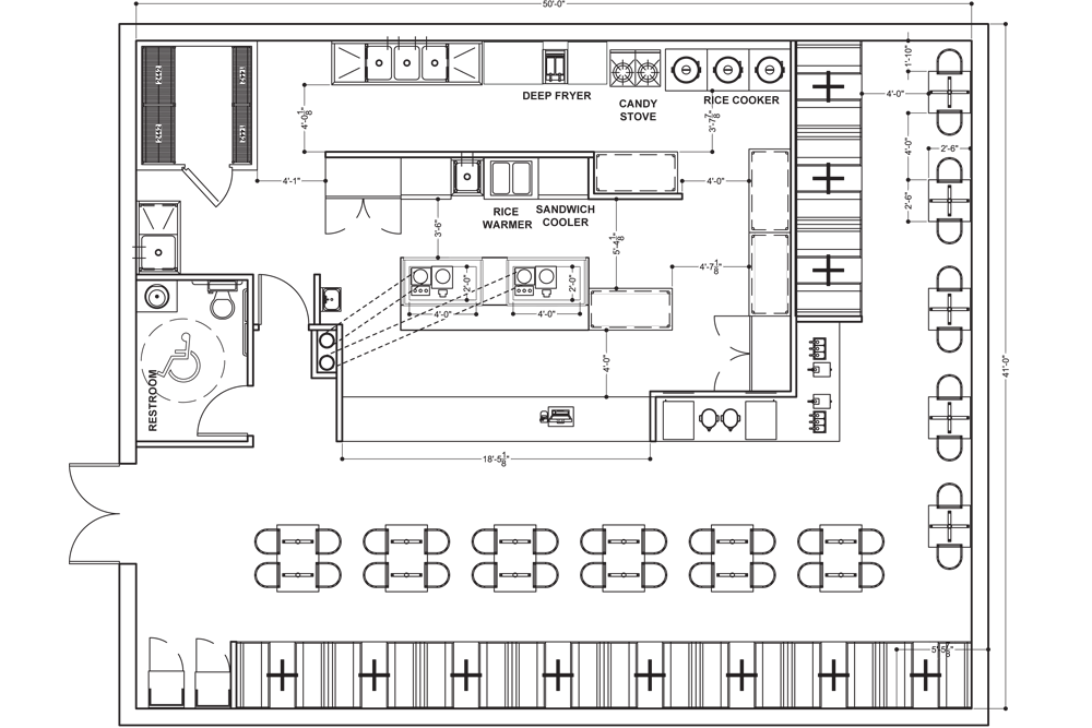 Simple restaurant kitchen floor plan design emejing