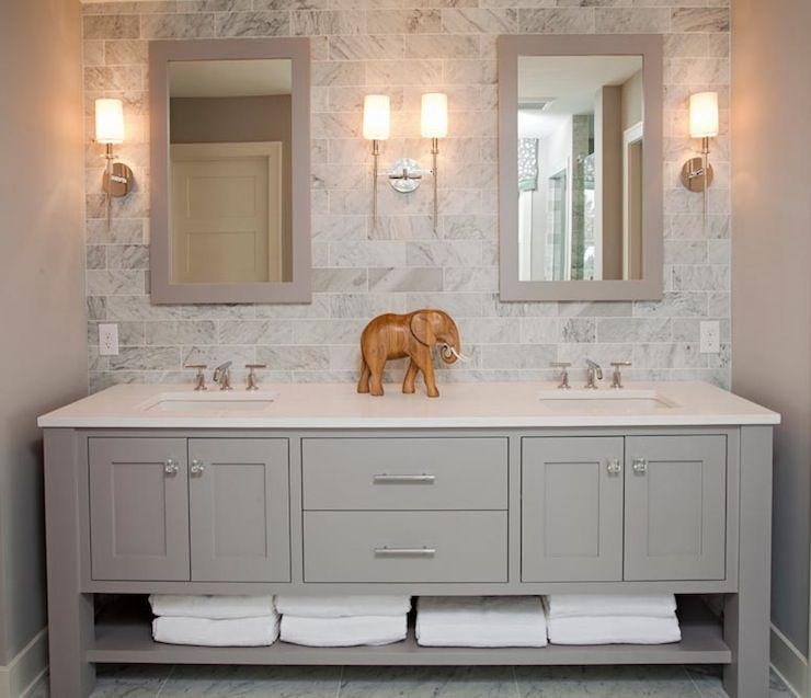 gray double vanity contemporary