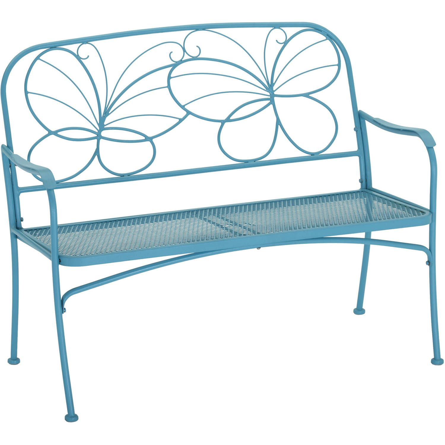 Buy Mainstays Butterfly Outdoor Patio Bench At Walmart.com