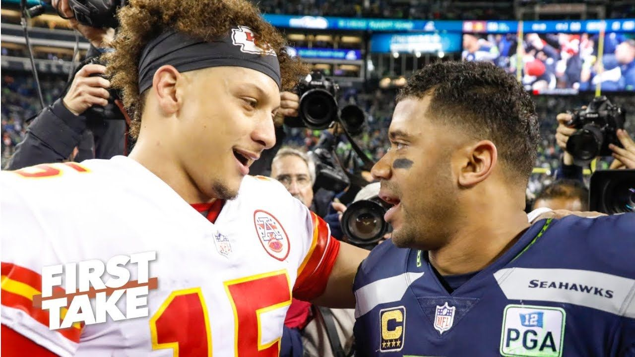 Patrick Mahomes Isn T A Lock For Mvp With Russell Wilson Around Stephen A First Take Russell Wilson Nfl Sports Oakland Raiders