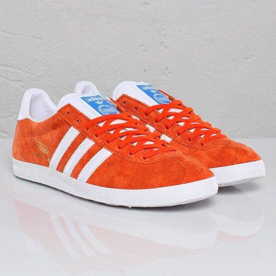 mens adidas orange gazelle og trainers nz