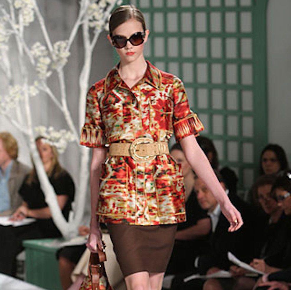 OSCAR DE LA RENTA $2,290 silk cotton short sleeve jacket runway blazer 10-us NEW #OscardelaRenta #SilkJacket