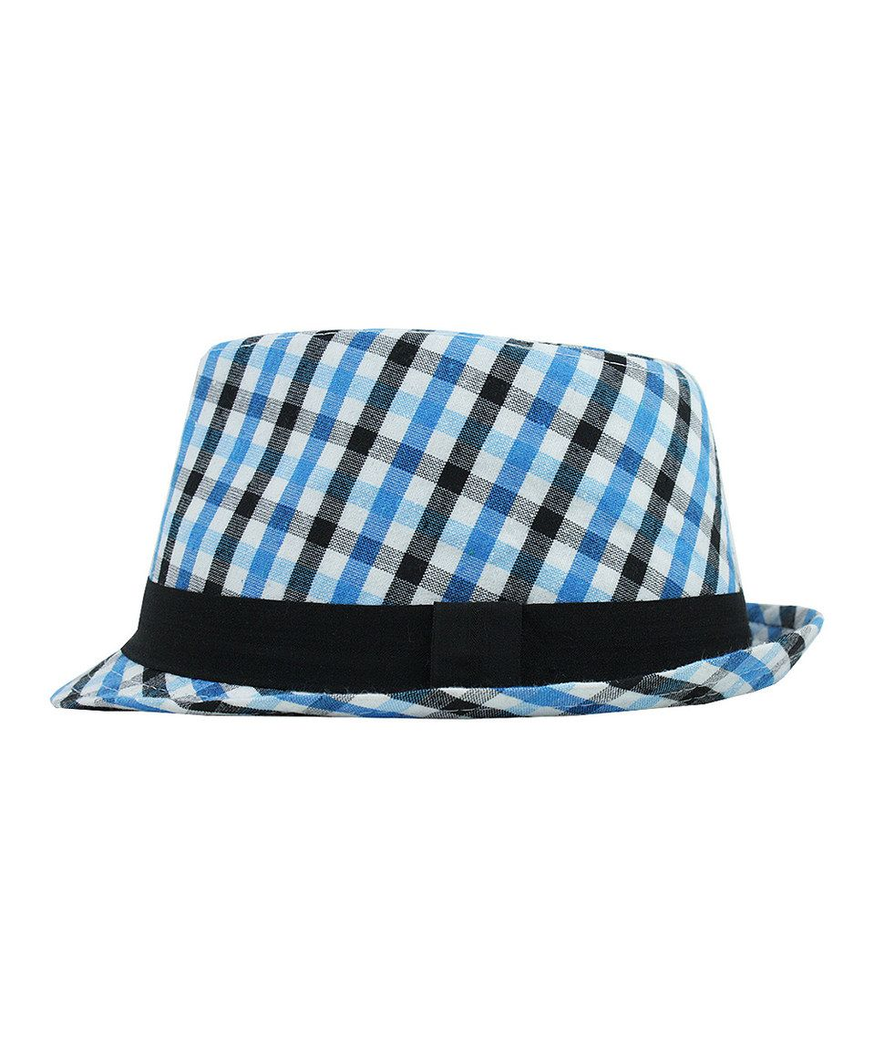 RuggedButts Blue Plaid Fedora by RuggedButts #zulily #zulilyfinds