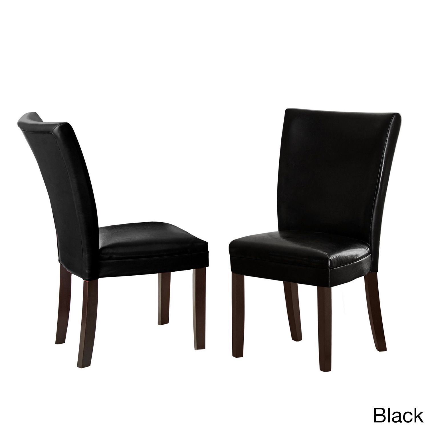 Greyson Living Monoco Leather Chairs (Set of 2) (Monoco Black Side Chair)