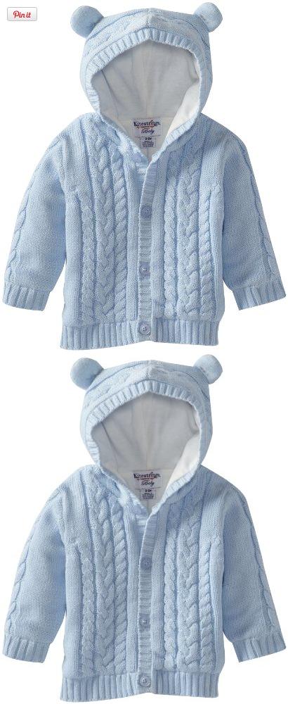 Kitestrings Baby-Boys Newborn Hooded Cotton Sweater Cardigan ...