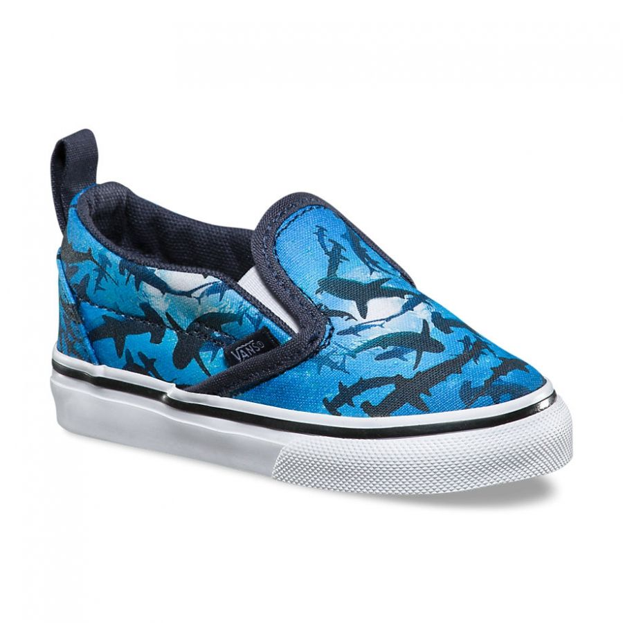 Vans Toddler Digi Shark Slip-on V shoes (parisian night/true white)
