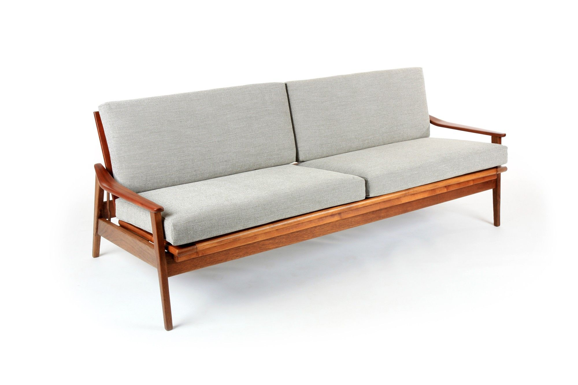 A Fold Down Sofa Daybed In Mahogany By Morgan Furniture Mr