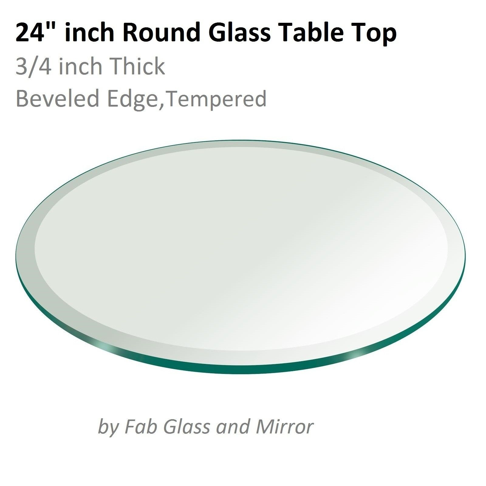 Round Glass Table Top 24