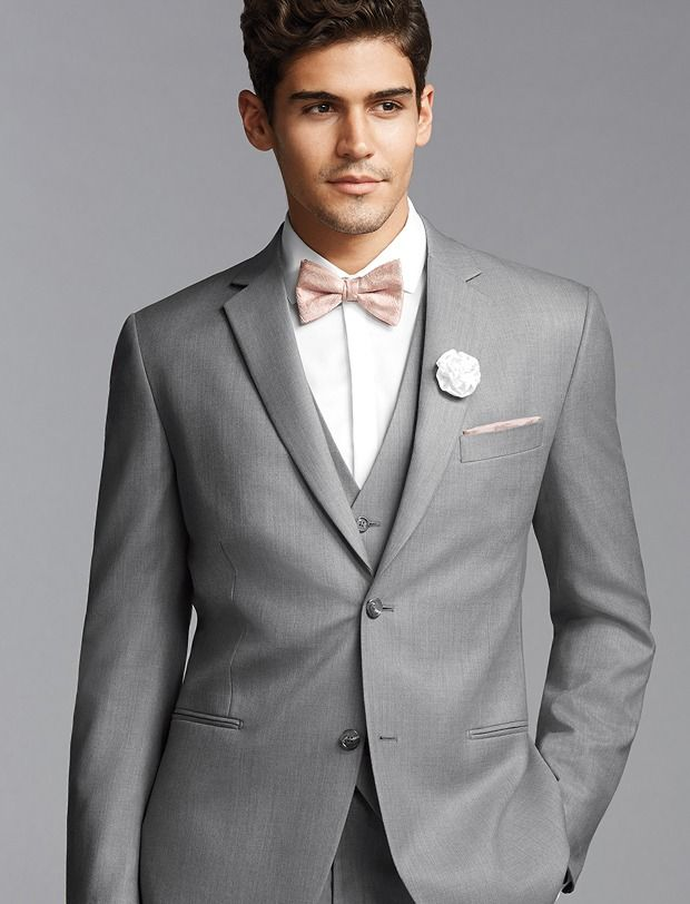 Pronto Uomo Vintage Two-Button Gray Super 120\'s Suit | Wedding ...