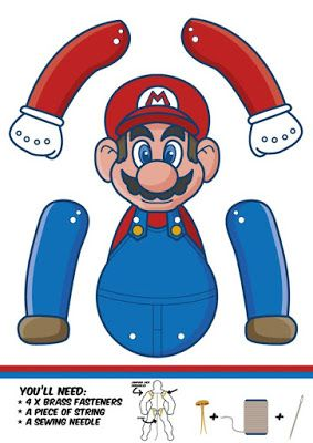 J Ossorio Papercraft Recortable Movíl De Mario Bross Mario Bros Party Super Mario Bros Party Super Mario Bros