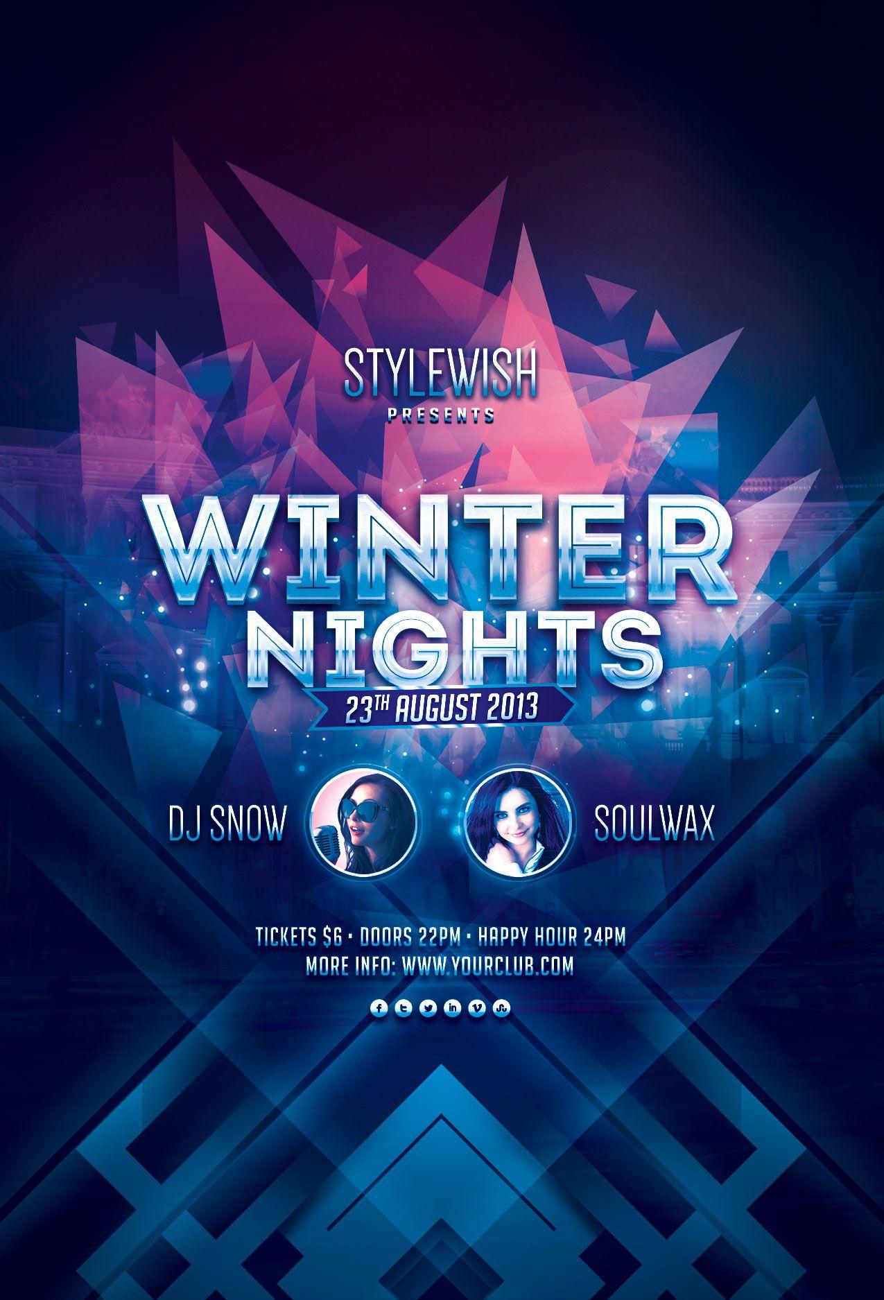 Graphic Design Inspiration · Winter Nights Flyer