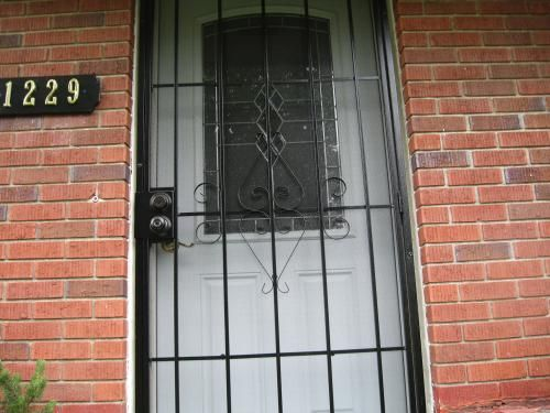 Black Metal Screen Doors glass design is fully visible with my new sucasa black security