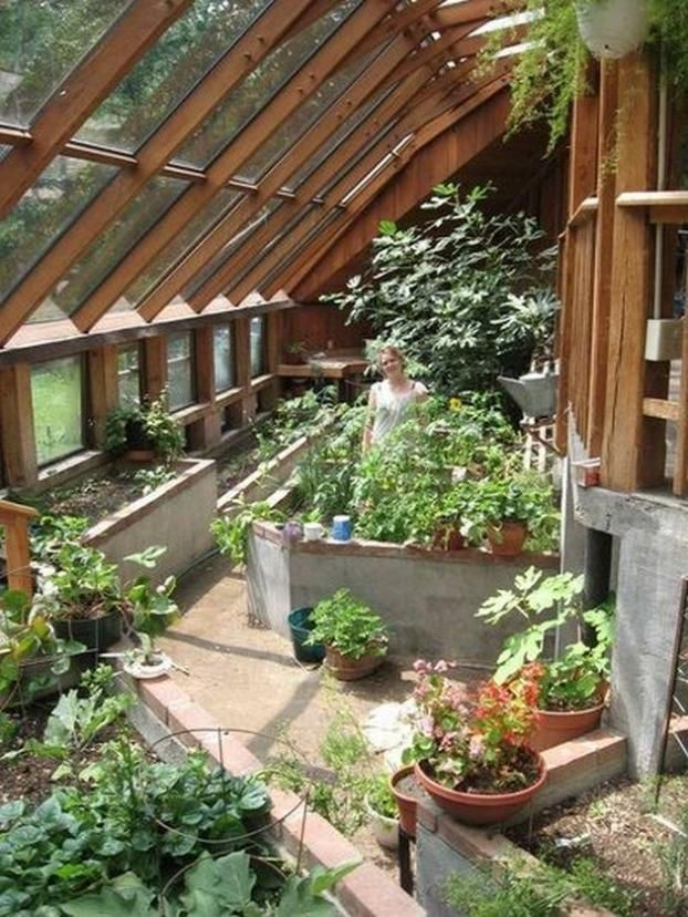 50 Awesome Attached Greenhouse Design Ideas Greenhouse Farming Earthship Home Indoor Garden