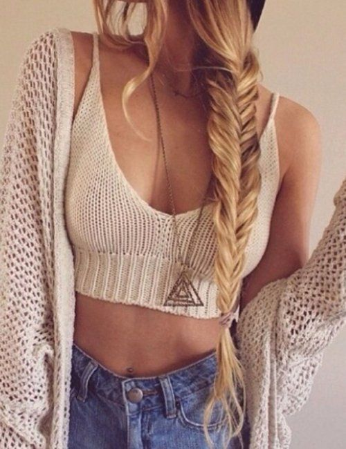 Women's Sexy Crochet Knit Crop Top Deep V Neck Spaghetti Strappy Cropped Vintage Top