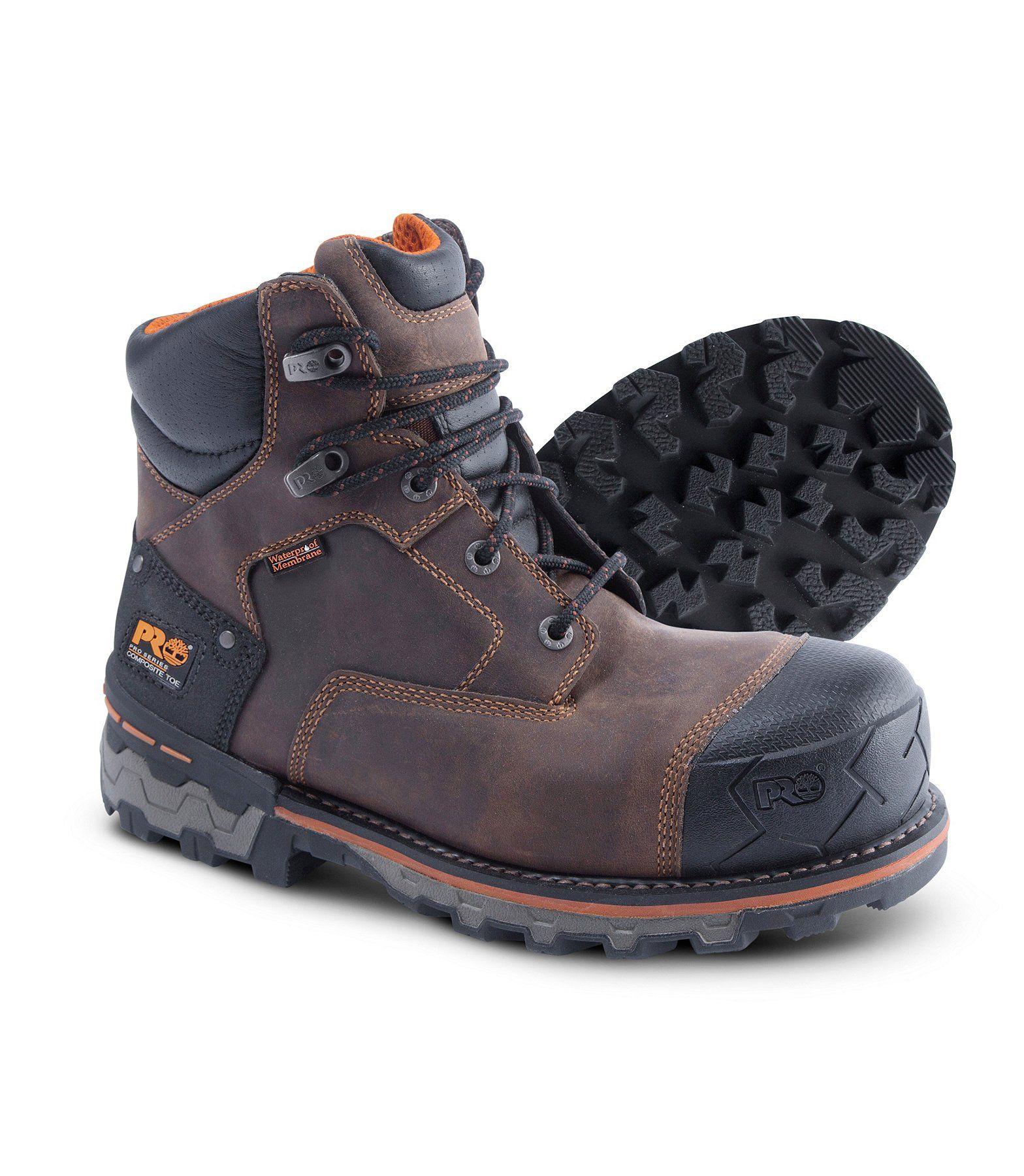 8b5f271ebe1 Mens 6'' Boondock Composite Toe Composite Plate Waterproof Work ...