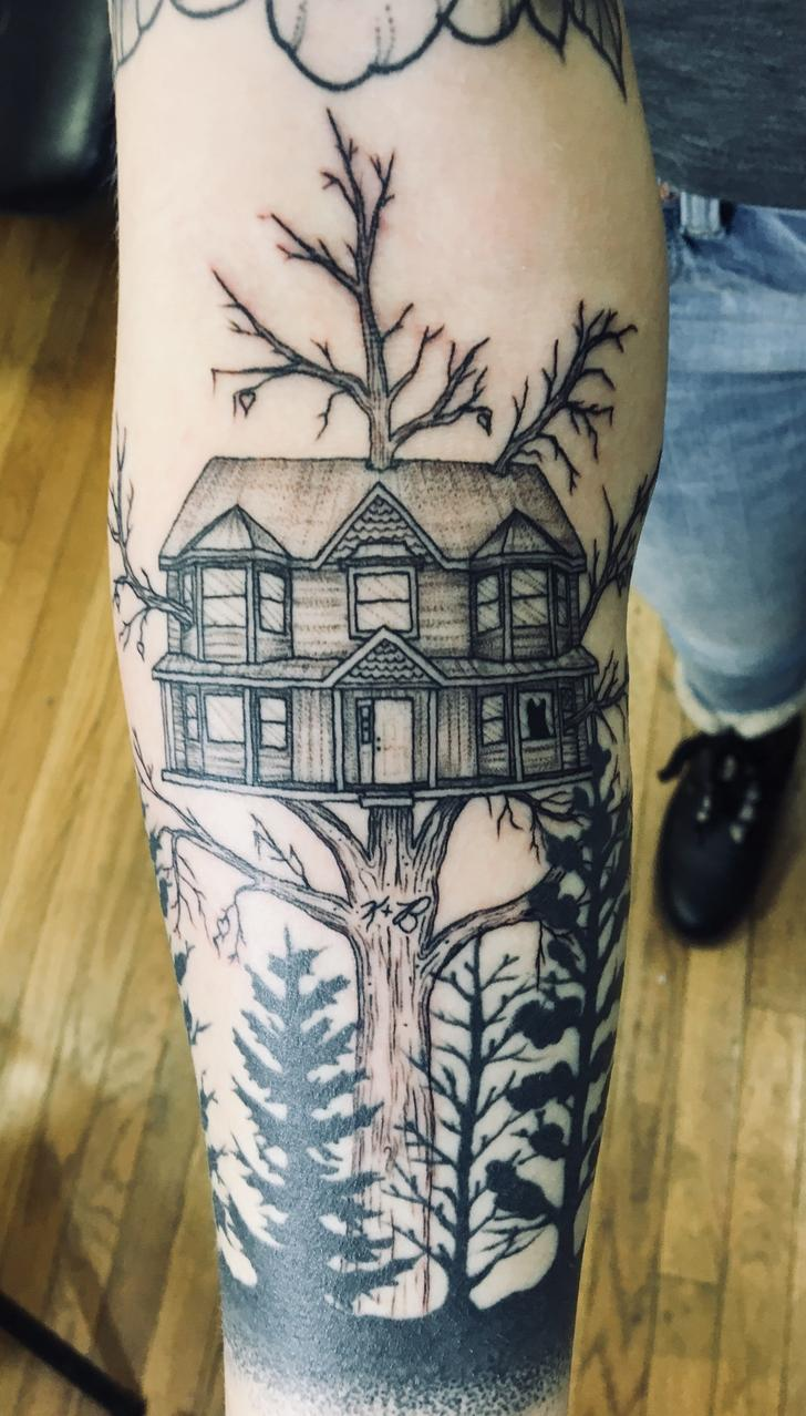 After 7 months, I finally got the tattoo for my parents, dog, and family home -  After 7 months, I finally got the tattoo for my parents, dog, and family home – Album on Imgur  - #babynametattoos #Dog #family #familynametattoos #finally #Home #months #parenttattoos #Parents #tattoo