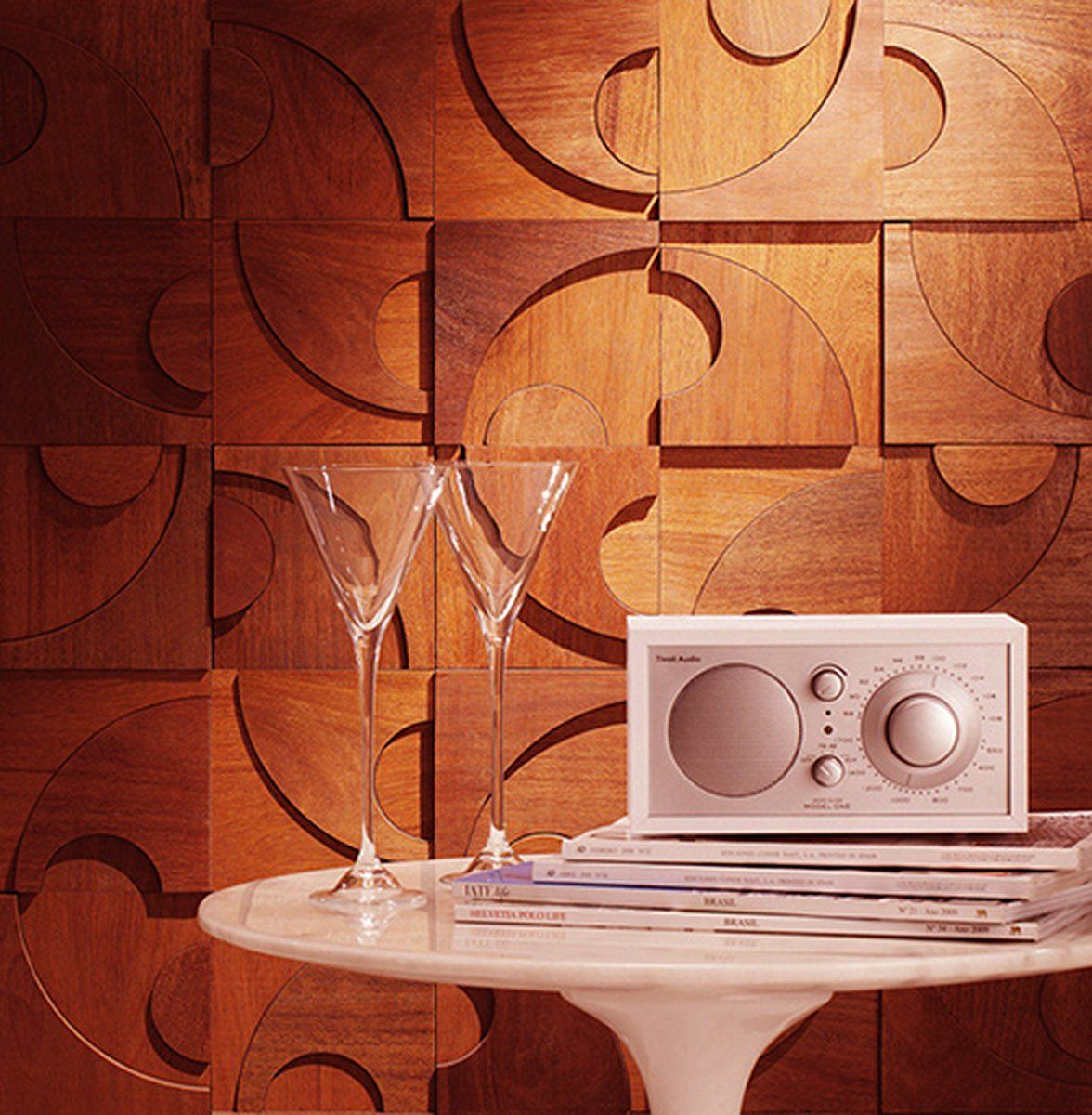 Artistic wood wall tiles with unique design what a cool idea