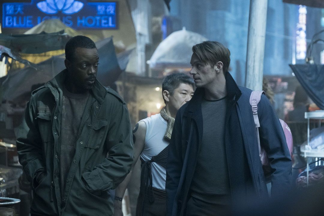Ato Essandoh Joel Kinnaman In Season 1 Of Altered Carbon Photo