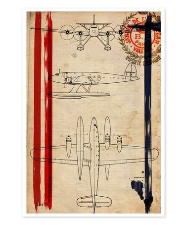 Another great find on #zulily! 1944 'Air Espagne France' Print by Oliver Gal #zulilyfinds