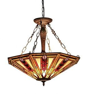 Tiffany Style Light Fixture Dining Lamp Stained Glass Ceiling Awesome Stained Glass Light Fixtures Dining Room Inspiration