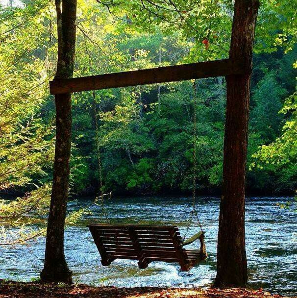 What a wonderful place for a Swing!!! Bebe'!!! This is such a soothing and restful area for a swing!!! Enjoy!!!