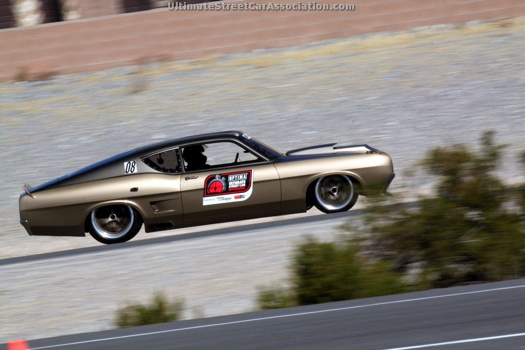 Troy Trepanier driving George Poteet\'s 1969 Ford Torino at the ...
