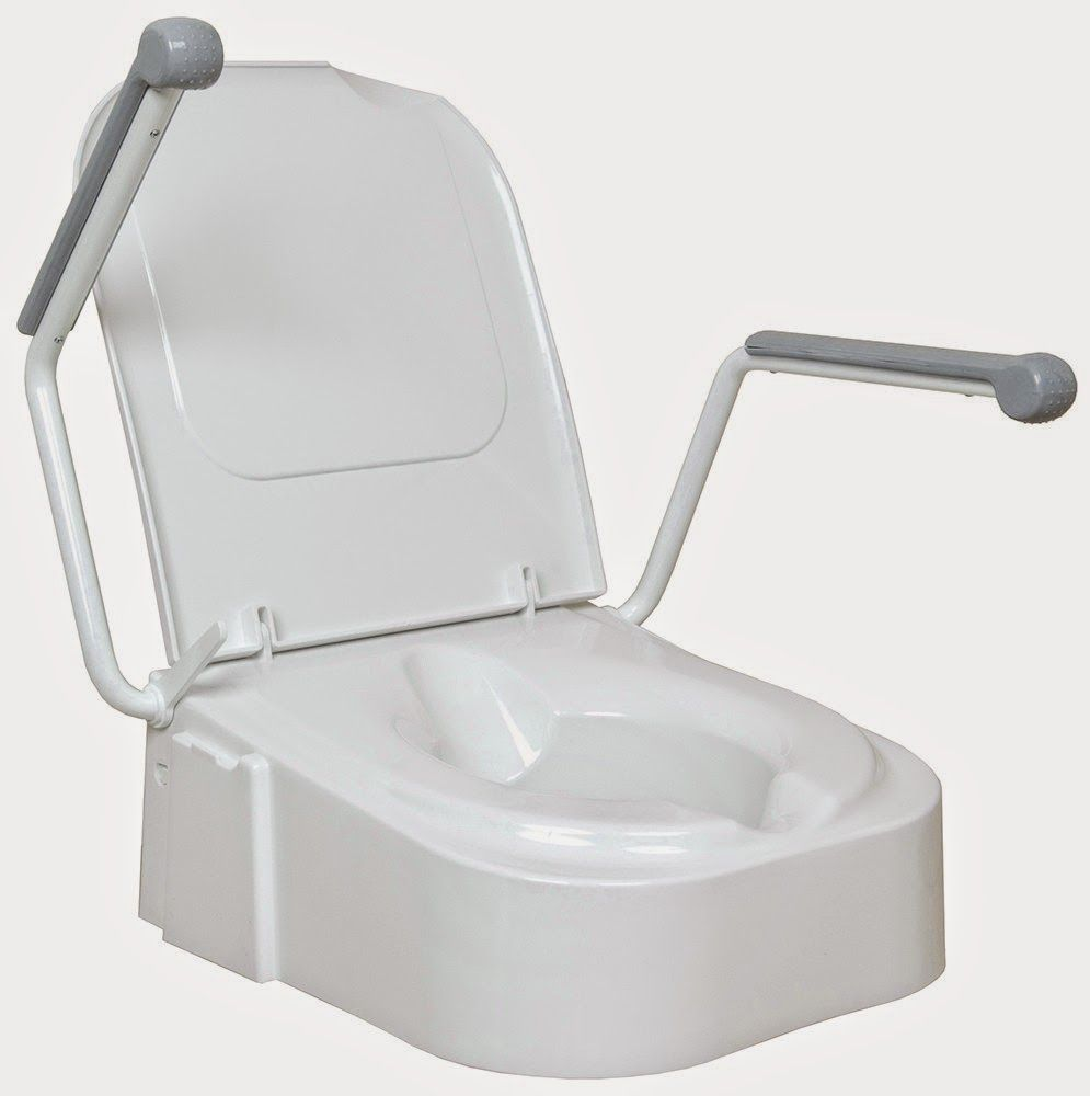 The Awesome Design Raised Toilet Seat With Armrests Image Design