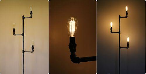 Como fazer uma luminária de chão tubulação industrial | Como Sobre a ...