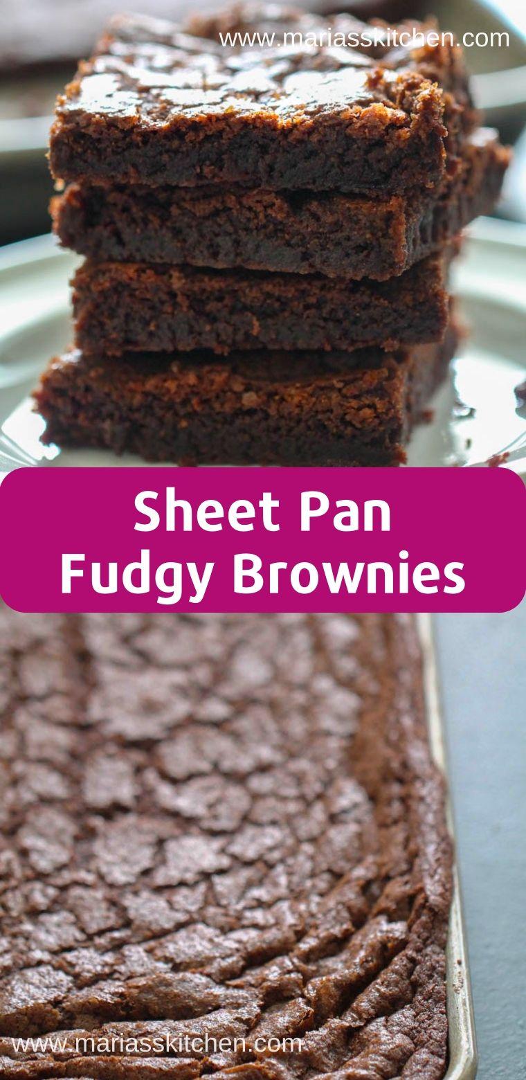 Sheet Pan Fudgy Brownies Recipe Brownie Recipes Fudgy Brownie