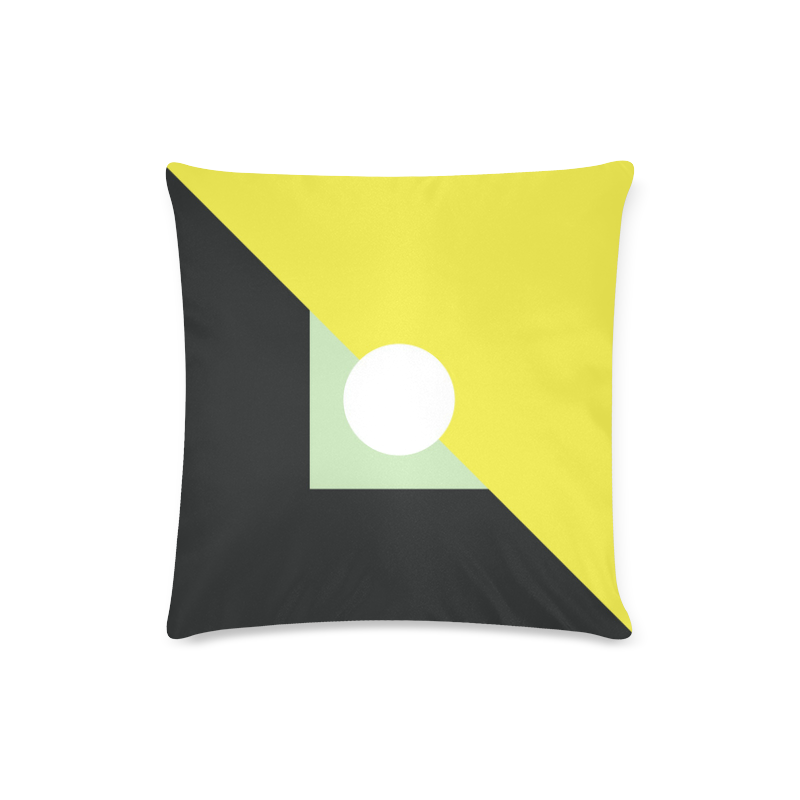CV0065 Retro Modern Bold Geometric Black Yellow Wh Custom Zippered Pillow Case 16